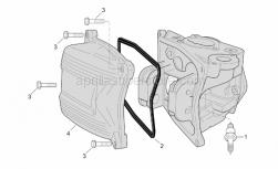 Engine - Head Cover (Int. Thermostat) - Aprilia - Screw w/ flange M6x3