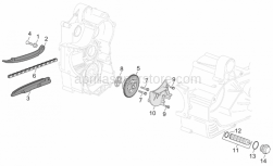 Engine - Oil Pump - Aprilia - Chain tensioner sliding block
