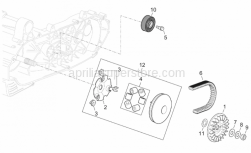 Engine - Primary Transm. - Aprilia - Pin roller Kit