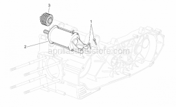 Engine - Starter Motor - Aprilia - Screw w/ flange
