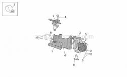 Engine - Throttle Body - Aprilia - Plate