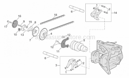 Engine - Valve Control - Aprilia - Screw w/ flange M5x1