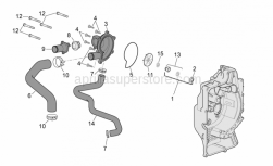 Engine - Water Pump (Internal Thermostat) - Aprilia - Thermostat cover