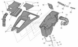 Frame - Air Box - Aprilia - Filter housing base
