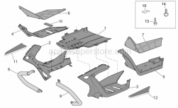 Frame - Central Body II - Aprilia - LH Floor panel