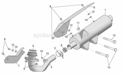 Frame - Exhaust Unit - Aprilia - Cat.exhaust pipe