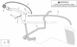 Frame - Expansion Tank - Aprilia - Cooler-thermostat pipe