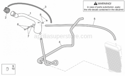 Frame - Expansion Tank - Aprilia - Hose clamp