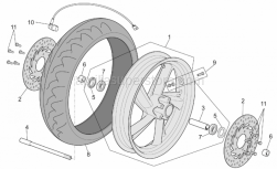 Frame - Front Wheel - Aprilia - Screw w/ flange