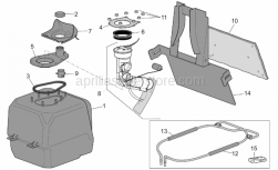 Frame - Fuel Tank - Aprilia - Fuel pump support