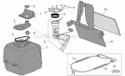 Frame - Fuel Tank - Aprilia - Fuel pump flange