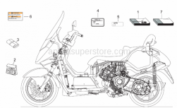 Frame - Plate Set-Decal-Op.Handbooks - Aprilia - Operator's handbook -USA- currently ABOLISHED BY APRILIA