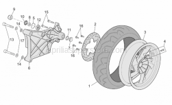Frame - Rear Wheel - Aprilia - Bearing 6303-2RS1