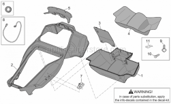 Frame - Undersaddle - Aprilia - Helmet comp.cover