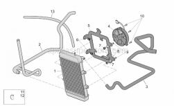 Frame - Water Cooler - Aprilia - Water cooler support