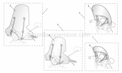 Genuine Aprilia Accessories - Acc. - Windshields - Aprilia - Windscreen cpl. Big