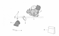 Engine - Carburettor - Aprilia - Screw w/ flange M6X2