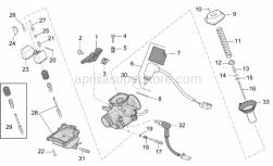 Engine - Carburettor - Components - Aprilia - Conical pin DCK