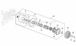 Engine - Clutch - Aprilia - Sec.fixed sheave, co