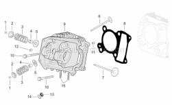 Engine - Cylinder Head - Aprilia - Exhaust valve SUPERSEDED BY 483707
