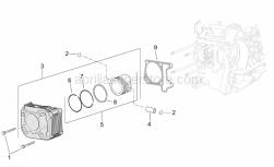 Engine - Cylinder - Piston - Aprilia - Ring 63,0x1
