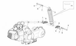 Engine - Engine - Rear Shock Absorber - Aprilia - Decal shock absorber