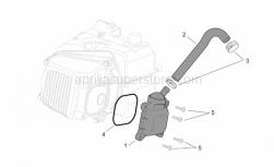 Engine - Oil Breather Valve - Aprilia - White hose clip D17,5x8