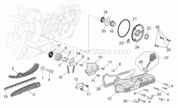 Engine - Oil Pump - Aprilia - Timing system chain pinion cpl