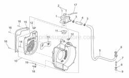 Engine - Secondary Air - Aprilia - Hose union