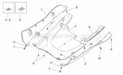 Frame - Central Body - Underpanel - Aprilia - RH side panel, cyan