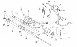Frame - Central Stand - Connecting Rod - Aprilia - Screw w/ flange M8x20