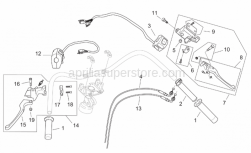Frame - Controls - Custom - Aprilia - Rear brake lever complete