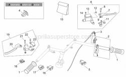 Frame - Controls - Retro' - Aprilia - Front brake lever