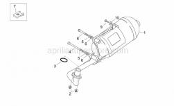 Frame - Exhaust Unit - Aprilia - Screw w/ flange M5x12