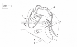 Frame - Front Body - Shield - Aprilia - Internal shield, varadero cyan