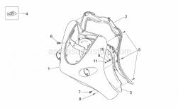 Frame - Front Body - Shield - Aprilia - Screw w/ flange