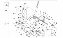 Frame - Front Shock Absorber - Aprilia - Plate