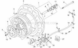 Frame - Front Wheel - Custom - Aprilia - Odometer gear