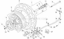 Frame - Front Wheel - Custom - Aprilia - Front brake caliper, DISCONTINUED NO LONGER AVAILABLE