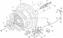 Frame - Front Wheel - Retro' - Aprilia - Low self-locking nut M12x1,25