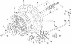 Frame - Front Wheel - Retro' - Aprilia - Screw w/ flange M8x25