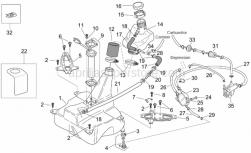 Frame - Fuel Tank - Aprilia - Fuel filler cap ring nut