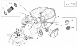 Frame - Fuel Vapour Recover System - Aprilia - Carbon filter