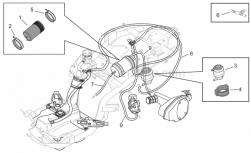 Frame - Fuel Vapour Recover System - Aprilia - Rubber spacer