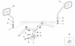 Frame - Handlebar - Mirrors Retro' - Aprilia - Plastic rivet