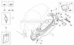 Frame - Helmet Compartment - Aprilia - Clip M4