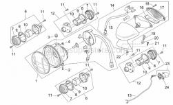 Frame - Lights - Retro' - Aprilia - Taillight wiring harn.