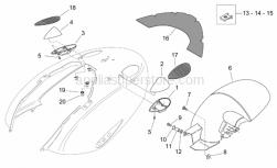 Frame - Rear Body - Mudguard - Aprilia - Clip M4