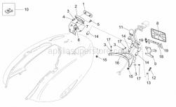 Frame - Rear Body - Plate Holder - Aprilia - Number plate holder support