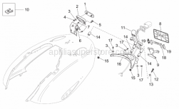 Frame - Rear Body - Plate Holder - Aprilia - Reflector support